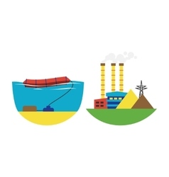 Alternative energy wave station vector