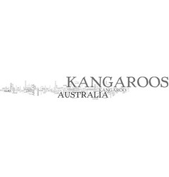 Australia kangaroos text word cloud concept vector