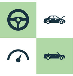 Auto icons set collection of fixing convertible vector