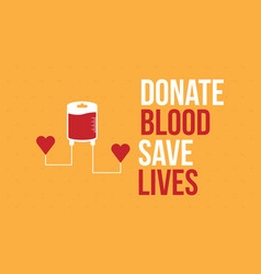 Background of donate blood save lives collection vector