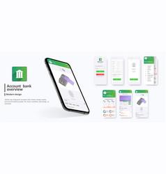 Banking app ui ux kit mobile app vector