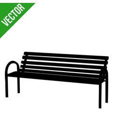 bench silhouette on white vector image