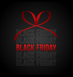 black friday sale square banner in form of vector image