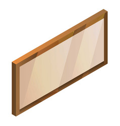 blank signboard icon isometric style vector image