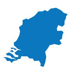 blue similar netherlands map blank template for y vector image
