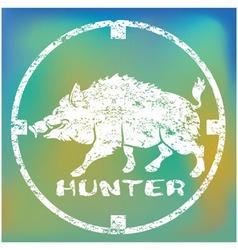 Boar hunting vector