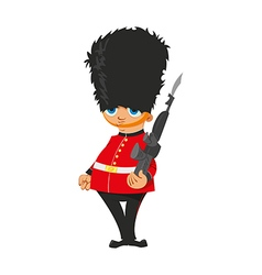 British Royal Guard vector image