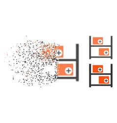 Broken dot halftone medical warehouse icon vector