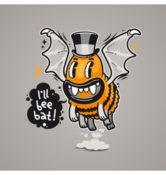 Cartoon Monster Ill Bee Bat vector image