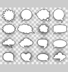cartoon white comic bubbles vector image