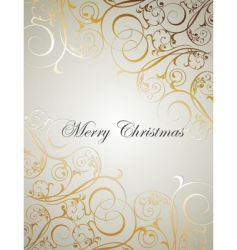 Christmas floral background vector