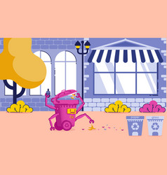 City cleaning application and equipment cartoon vector