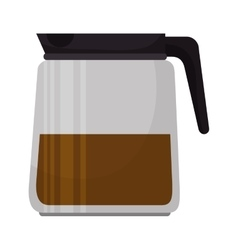 Coffee pot beverage vector