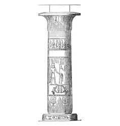column from thebes ancient vintage engraving vector image
