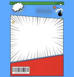 comic book page page template pop art comic page vector image