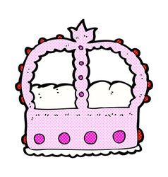 Comic cartoon pink crown vector