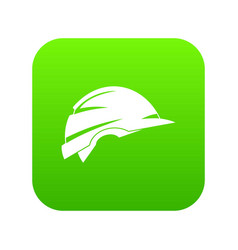 construction helmet icon digital green vector image