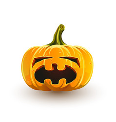 Crying halloween pumpkin vector