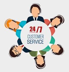 Customer service design vector