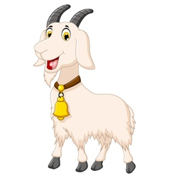 cute goat cartoon posing vector image