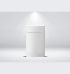 cylinder package white round empty paper box for vector image