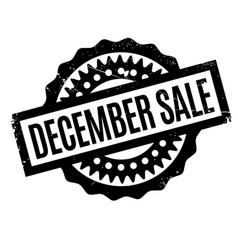 December sale rubber stamp vector