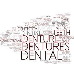 Dentures word cloud concept vector