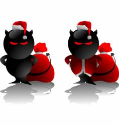 Devil toy Christmas vector