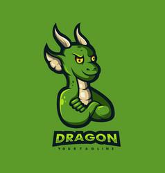 dragon cartoon logo vector image