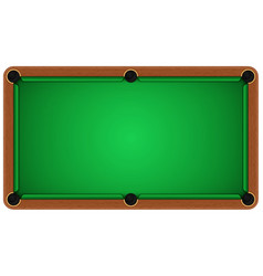 Empty billiard table on a white background vector