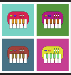 Flat icon design collection children musical vector