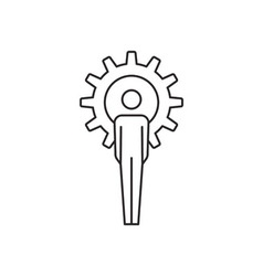 Gear people icon vector image