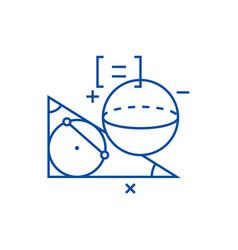 geometry line icon concept geometry flat vector image