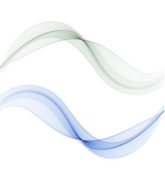 grey and blue wave set wave motionabstract vector image