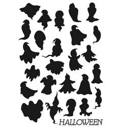 halloween ghosts horror night monsters phantoms vector image