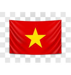hanging flag vietnam socialist republic of vector image