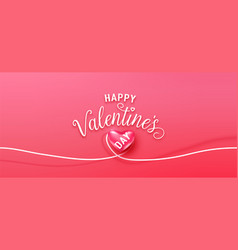 happy valentines day greeting background vector image