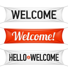 Hello and Welcome banners vector