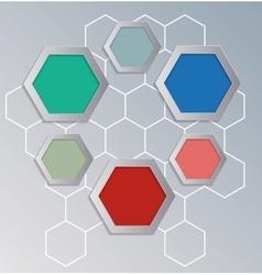 Hexagons background for infographics vector