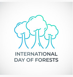 International day forests concept ecology vector