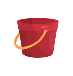 isolated bucket of sand vector image