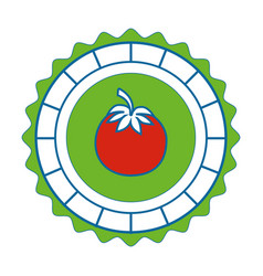 Isolated round icon tomato vector