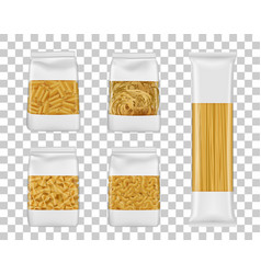 Italian spaghetti and penne pasta packages vector