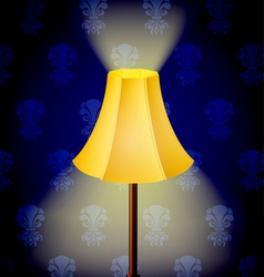 Lamp in dark vector image
