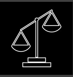 law scale it is icon vector image