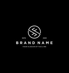Letter fs logo design vector