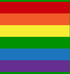 lgbt rainbow flag gay colors vector image