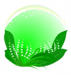 lilies of the valley framework vector image