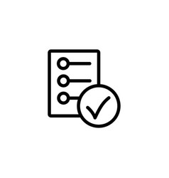 line checklist report icon on white background vector image