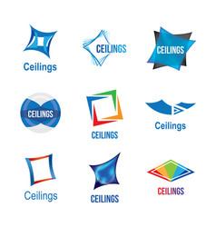 logos of ceilings floors vector image